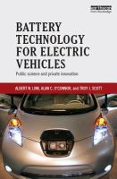 Battery technology for electric vehicles : public science and private innovation