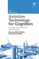 Assistive technology for cognition : a handbook for clinicians and developers