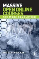 Massive open online courses [electronic resource] : the MOOC revolution