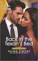 Title: Back in the Texan's bed. Author:Simone, Naima