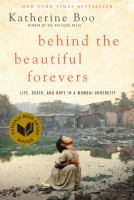 Book cover for Behind the Beautiful Forevers by Katherine Boo