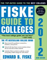 Fiske Guide to Colleges 2012.