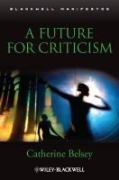 A future for criticism [electronic resource]