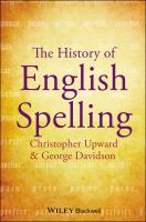 The history of English spelling [electronic resource]