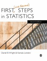 First (and second) steps in statistics [electronic resource]