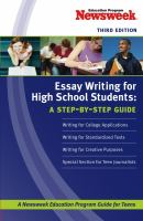 Essay Writing for High-school Students: A Step-by-step Guide