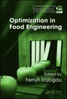 Optimization in food engineering [electronic resource]
