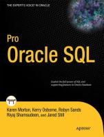 Pro Oracle SQL [electronic resource]