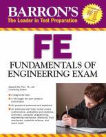 FE fundamentals of engineering exam