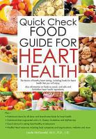 Quick check food guide for heart health