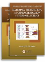Thermoelectrics and Its Energy Harvesting [electronic resource]
