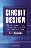 Circuit design techniques for non-crystalline semiconductors [electronic resource]