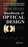 Handbook of optical design [electronic resource]