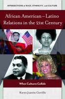 African American-Latino relations in the 21st century : when cultures collide cover image