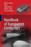 Handbook of Transparent Conductors [electronic resource]