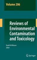 Reviews of Environmental Contamination and Toxicology Volume 206 [electronic resource]