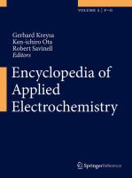 Encyclopedia of Applied Electrochemistry [electronic resource]