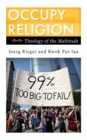 Occupy religion : theology of the multitude