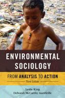 Environmental sociology : from analysis to action