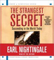 Strangest Secret: Succeeding In The World Today