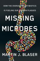 book cover: missing microbes