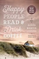 Happy people read & drink coffee.