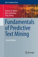 Fundamentals of predictive text mining