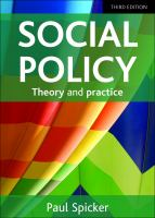 Social policy : themes and approaches
