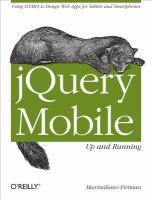 jQuery mobile [electronic resource] : up and running.