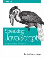 Speaking JavaScript : an in-depth guide for programmers
