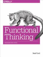 Functional thinking : paradigm over syntax