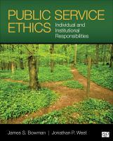 Public service ethics : individual and institutional responsibilities