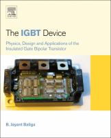The IGBT device [electronic resource] : physics, design and applications of the insulated gate bipolar transistor