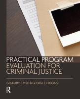 Practical program evaluation for criminal justice [electronic resource]