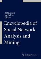 Encyclopedia of Social Network Analysis and Mining [electronic resource]