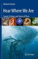 Hear where we are : sound, ecology, and sense of place