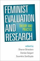 Feminist evaluation and research : theory and practice