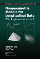 Nonparametric models for longitudinal data : with implementation in R /