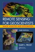 Remote sensing for geoscientists : image analysis and integration