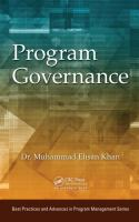 Program governance [electronic resource]