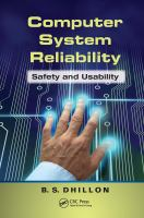 Computer system reliability [electronic resource] : safety and usability