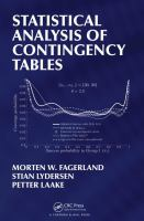 Statistical analysis of contingency tables /