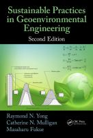 Sustainable practices in geoenvironmental engineering [electronic resource]
