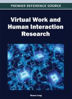 Virtual work and human interaction research cover image