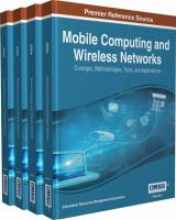 Mobile computing and wireless networks : concepts, methodologies, tools, and applications
