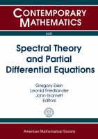Spectral theory and partial differential equations [electronic resource] : conference in honor of James Ralston's 70th birthday on spectral theory and partial differential equations : June 17--21, 2013, University of California, Los Angeles, California
