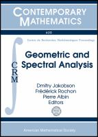 Geometric and spectral analysis [electronic resource]