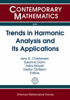 Trends in harmonic analysis and its applications [electronic resource] : AMS special session on harmonic analysis and its applications : March 29-30, 2014, University of Maryland,             Baltimore County, Baltimore, MD