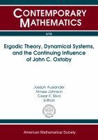 Ergodic theory, dynamical systems, and the continuing influence of John C. Oxtoby /