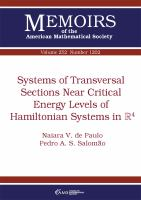 Systems of transversal sections near critical energy levels of Hamiltonian systems in R4 /